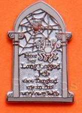 Disney Pin 72107 Haunted Mansion Tombstone Spider Jeb LE 25 Artist Proof AP