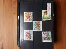 timbre luxembourg (th) lot 46   neufs   n1088/92     caritas  portraits d'enfant