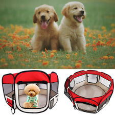 Hobbyzoo 57-inch foldable 600D Oxford cloth and mesh pet fence with eight panels