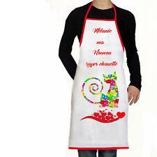 Tablier de cuisine personnalisé prénom nounou super chouette cadeau réf 10