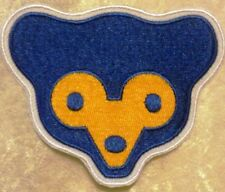 """Chicago Cubs 3.5"""" Cub Face Iron /Sew On Embroidered Patch~FREE SHIP!~"""