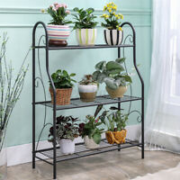 3-Tier Garden Metal Plant Stand Shelf Decor Flower Pot Home Storage Rack Holder