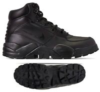 New NIKE Rhyodomo Mens Leather Ankle sneaker boots triple black all sizes