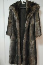 Coat Vintage Racoon Fur  Size S Pre-owned Woman