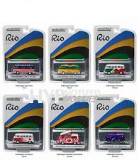 GREENLIGHT 1:64 RIO 2016 WORLD GAMES VOLKSWAGEN VAN & BUS 6PC SET 51037