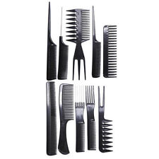 10 piece Hair Styling Comb Set - Black
