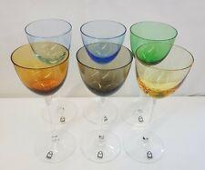 6 BicchieriICHENDORF HANDARBEIT Cristallo Colorato Calici