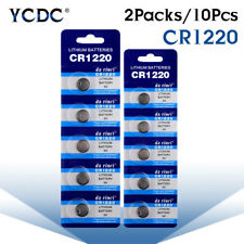 Battery CR1220 BR1220 DL1220 ECR1220 LM1220 3V Button Coin Cell Bulk 10Pcs 1743