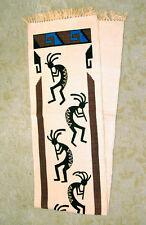 "Table Runner Dancing Kokopelli Native American design 13""x72"" Vertical Design"