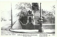 Staffordshire Postcard-Old Stoke-on-Trent,Public Drinking Fountain,Glebe St 2232