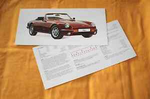 TVR S3 Convertible 1990 Prospekt Brochure Depliant Catalog Prospetto Prospecto