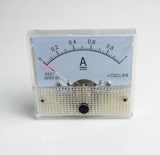 1pcs 1A Analog Panel AMP Current Meter Ammeter Gauge 85C1 White 0-1A DC AK