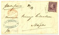 NEDERLAND 1869  BRIEF AMSTERDAM-NAPELS NR#11 ZEER FRAAI  / FINE