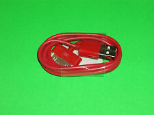 APPLE IPOD IPAD 1 2 IPHONE 3 3G 3GS 4 4S RED DOCK CONNECTOR TO USB CABLE