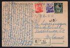 STORIA POSTALE Italia 1948 Cartolina Raccomandata (FB1)