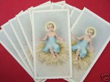 Vintage Catholic Holy Cards LOT OF 10 Christmas Baby Jesus on Straw