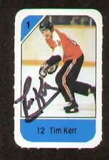 Tim Kerr signed autograph auto 1982-83 Post Cereal NHL Hockey Card