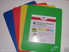 4 ANTIBACTERIAL COLOUR CODED FOOD CUTTING MATS NEW