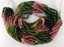 """15"""" Natural Top Croham Tourmaline Smooth Roundels Shape Beads 3-4 mm. IG23-07"""