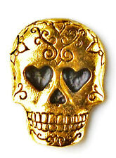 Day of the Dead Lapel Pin - Tie Tack - Valentine's Gift - Handmade - Gift Box