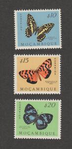 Mozambique Butterflies SC 364-366 MNH