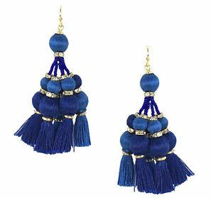 Kate Spade New York Women's Pretty Poms Tassel Statement Earrings - Blue