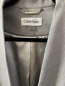 Women's Calvin Klein Gray Suit Jacket Blazer Size 16 Gorgeous!