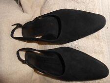 Salvatore Ferragamo Womens Black Sling Black Shoes Size 5.5 Medium