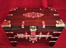 Antique Style Treasure Jewelry Box Dowry Kerala India Wooden box Chest Trinket