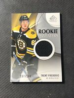 2019-20 SP GAME USED TRENT FREDERIC ROOKIE SWEATERS JERSEY #ed 157/199