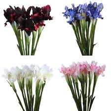 Искусственный шелк Цветы Ирис реальный сенсорный поддельные свадебный букет домой ваза декор