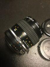 Nikon 55mm f/2.8 Micro Macro Close-Up Manual Focus AIS Prime Lens