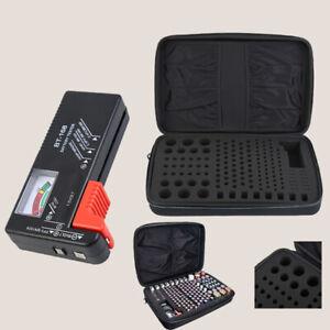 Batterie Aufbewahrungs box Batterie Organizer Mit Batterietester  Aufbewahrung