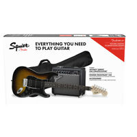 squier stratocaster electric guitar pack with fender frontman 10g amp black 885978984251 ebay. Black Bedroom Furniture Sets. Home Design Ideas