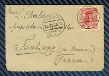 LUXEMBOURG - YT#127 s/carte-lettre de DIEKIRCH pour SANTENAY (Côte-d'Or) - 1923