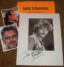 JOHN SCHNEIDER Autographed Photo & Photos DUKES of HAZZARD -Very HOT