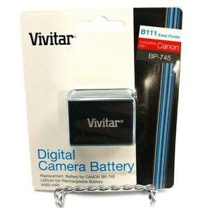 BP-745 Battery For CANON  by Vivitar (4400mAh) New Factory Sealed With Warranty