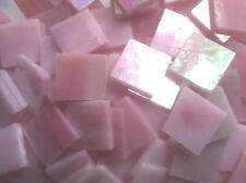Stained Glass Mosaic Tiles - 25 ct - 3/4 inch Iridescent Pink - DTI