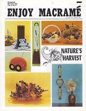 Enjoy Macrame Sept/Oct 1981 Vol. 5 No. 5 Newsletter Centerpiece Basket Patterns