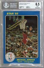 1984/85 Star Court Kings 5x7 Blue Michael Jordan Rc #26 BGS 6.5