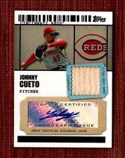 2009 Topps Ticket to Stardom Autograph Relics #JCC Johnny Cueto Reds AU MEM /489
