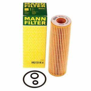 Mann-filter Oil Filter HU514X fits Mercedes C-CLASS W203 C 180 Kompressor