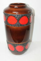 vintage SCHEURICH Fat Lava Vase 38 cm No. 517/38 West Germany