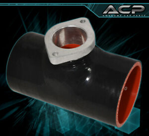 """Jdm Black Performance 2.5"""" Silicone Hose Blow Off Valve Type S Rs Flange Rsx Dc5"""