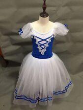 Adult Giselle Professional Royal Blue Romantic Ballet Dance Long Dress Costume