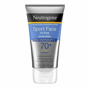 Neutrogena Sport Face Sunscreen, Oil-Free Sunscreen Lotion with Broad...