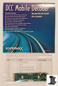 SoundTraxx ~ New 2021 ~ DCC Motor Decoder ~ MC2H104AT ~ Atlas & Others ~ 852002