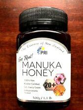 PRI Manuka Honey 20+ Plus Get Real Kosher Sealed 1.1lbs /  500g Fresh 08/2023+