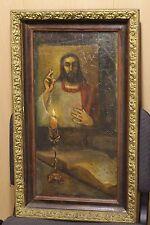 Vintage old oil painting on canvas Jesus Christ. Very RARE.