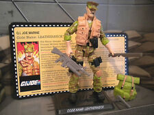 GI JOE ~ 2011 LEATHERNECK ~ MISSION BRAZIL JOECON ~ 100% comp w/ file card
